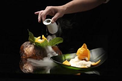 molecular gastronomy dish from Zaranda restaurant in Mallorca