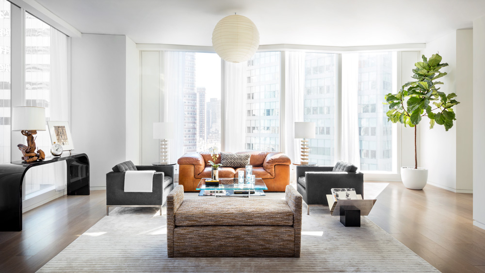 living room in Midtown Manhattan Residential Tower