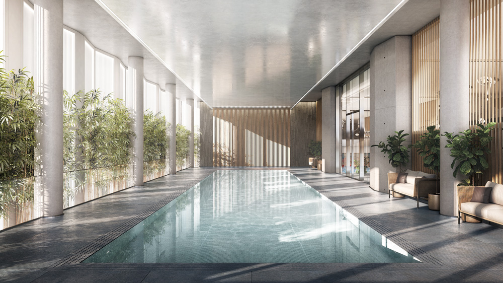 Swimming pool in Midtown Manhattan Residential Tower
