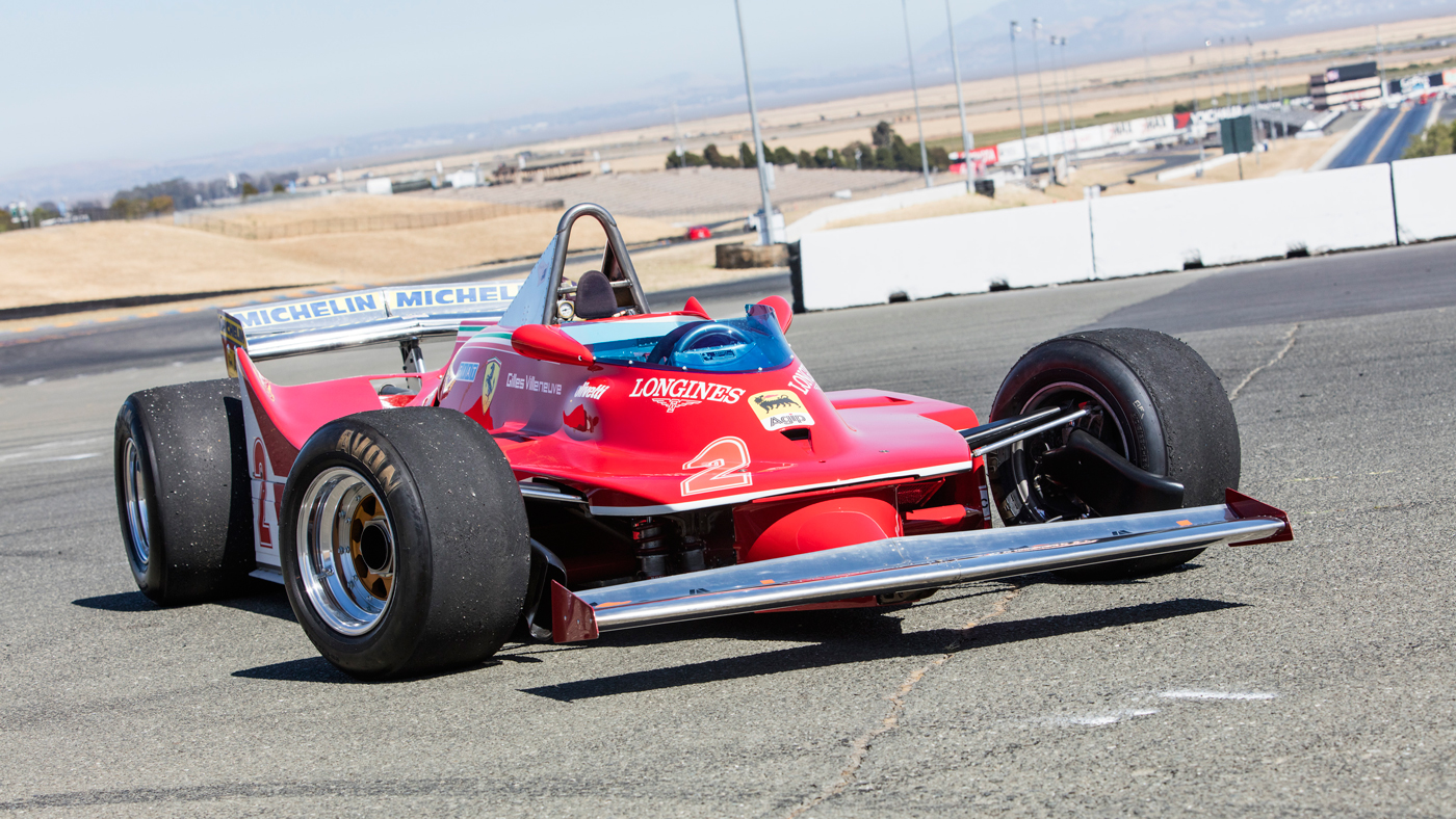 The 1980 Ferrari 312 T5 Single-Seater Formula 1 racecar driven by Jody Scheckter