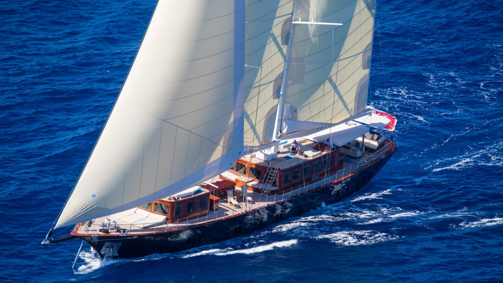 The new 136-foot sailing yacht Satori.