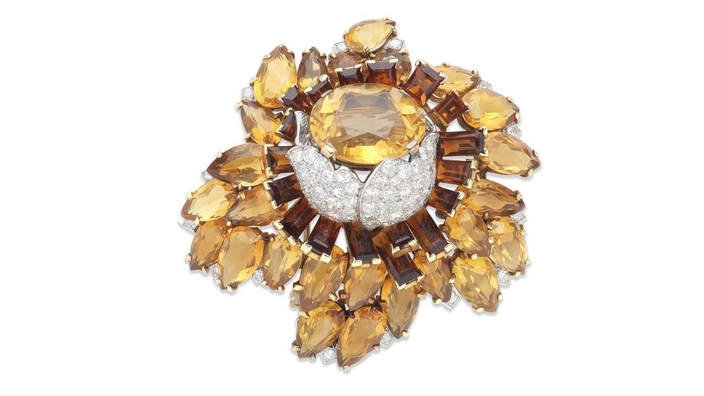 Vintage citrine jewelry piece