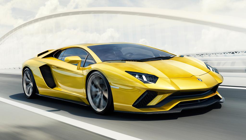 The 740 hp Lamborghini Aventador S.