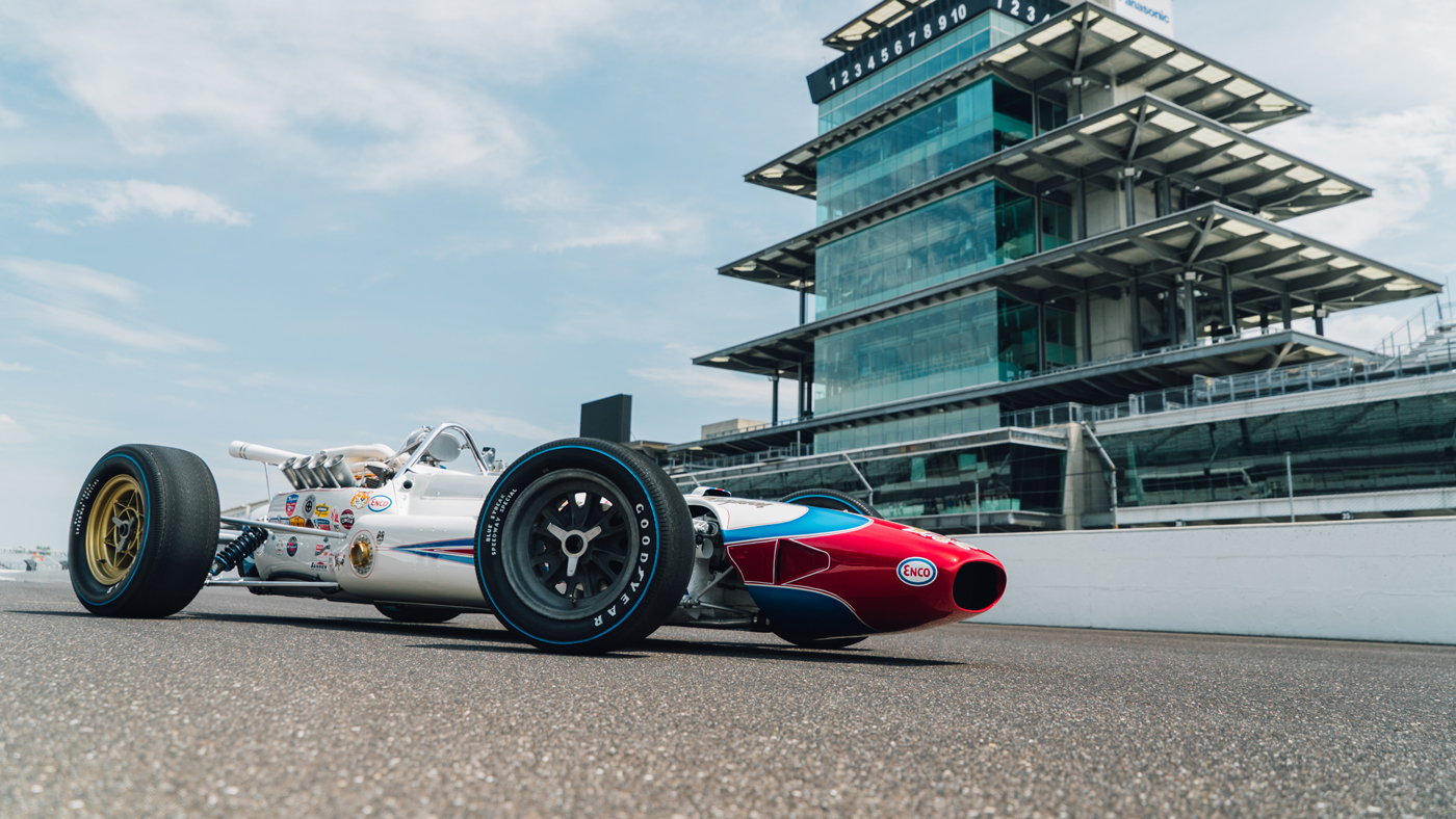 The 1964 Lotus Type 34 Single-Seater that A.J. Foyt drove to a record-setting average speed while qualifying for the 1965 Indianapolis 500.