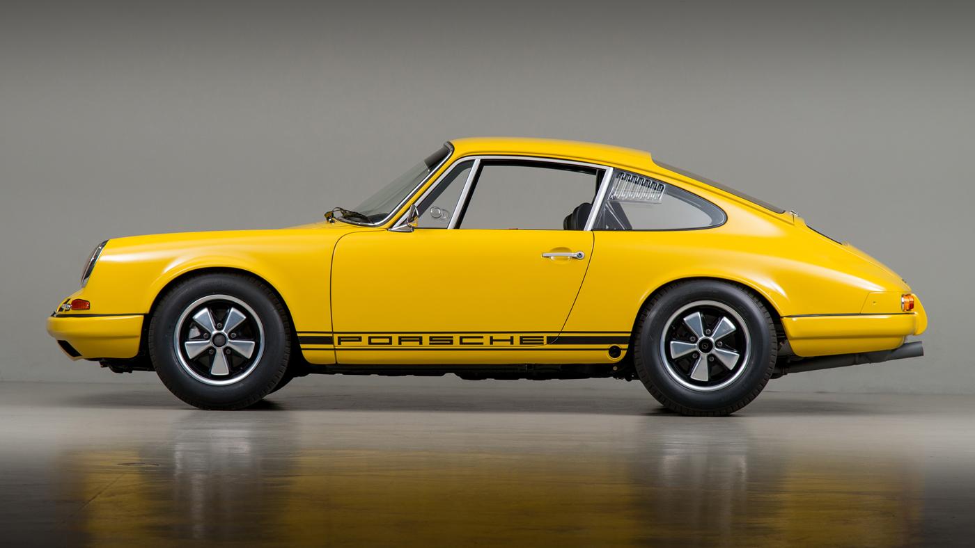 Photo of a restored 1967 Porsche 911 R.