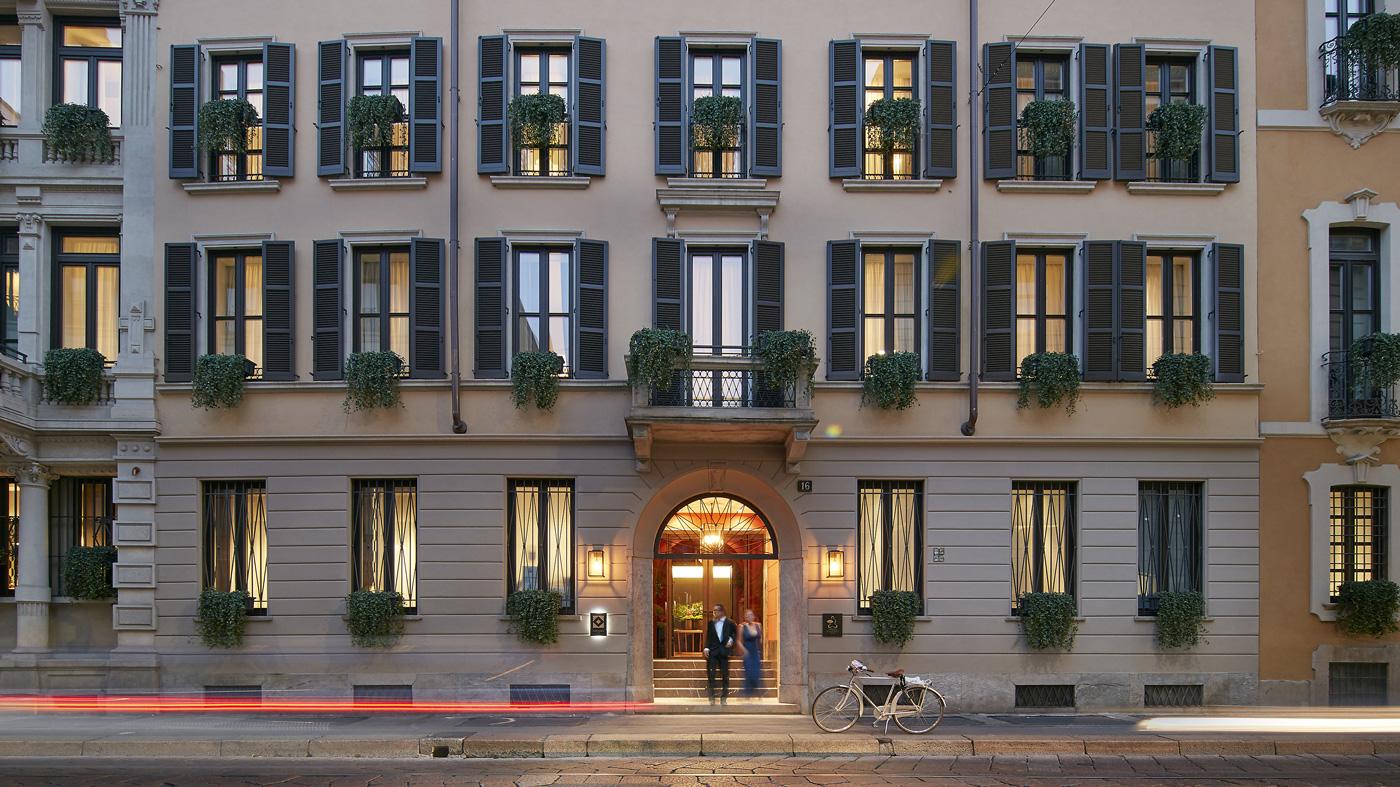 The elegant exterior of the Mandarin Oriental, Milan.