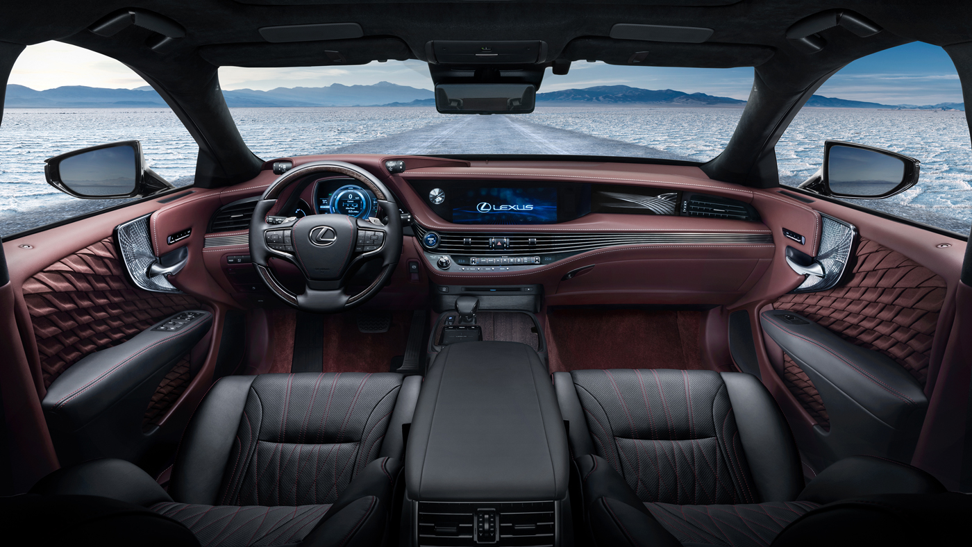 Intricate Japanese craftsmanship infuses the interior of the 2018 Lexus LS 500.