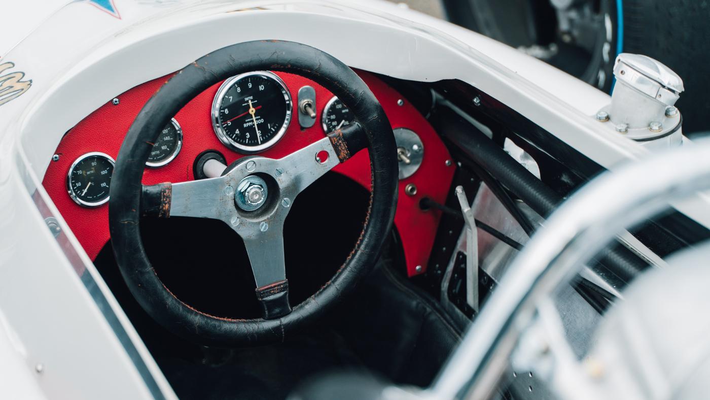 The Lotus Type 34 piloted by Dan Gurney, Parnelli Jones, Jim Clark, and A.J. Foyt.