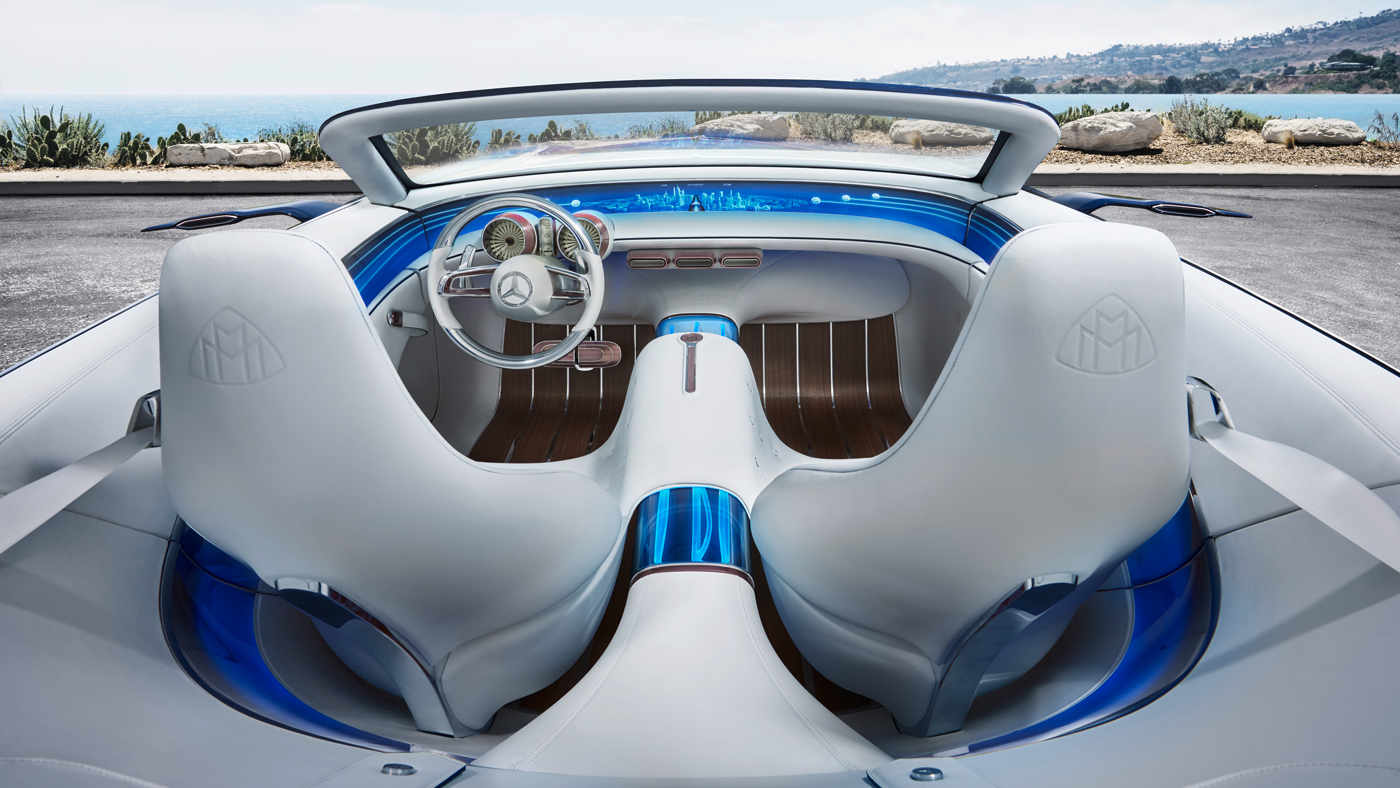 The interior of the Vision Mercedes-Maybach 6 Cabriolet Concept.