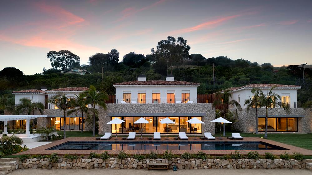 sunset over La Ladera Estate in Santa Barbara California