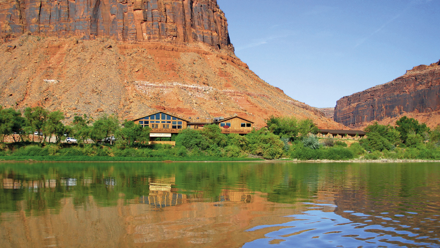 Moab's Red Cliffs Lodge fronted by the Colorado River.