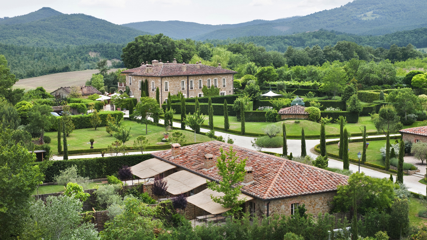 The 16-room Borgo Santo Pietro hotel set on 200 acres in Tuscany.