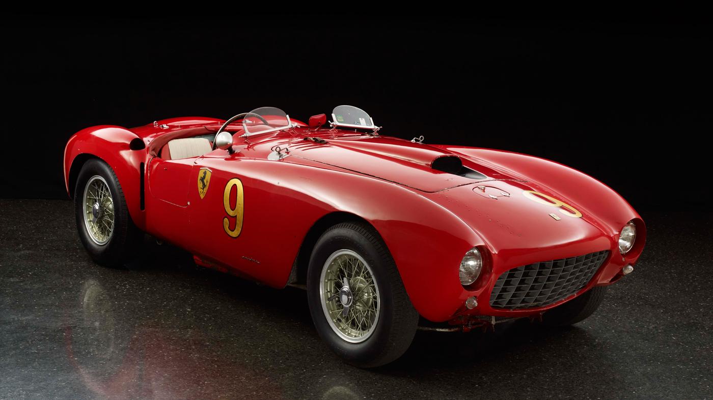 A 1953 Ferrari 375 MM Spyder by Pininfarina.