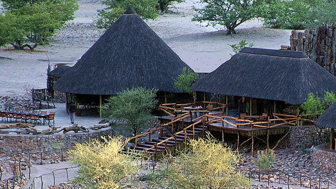 A traditional African lodge in Namibia.
