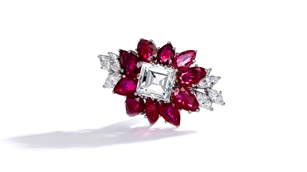 A dazzling ruby and diamond piece