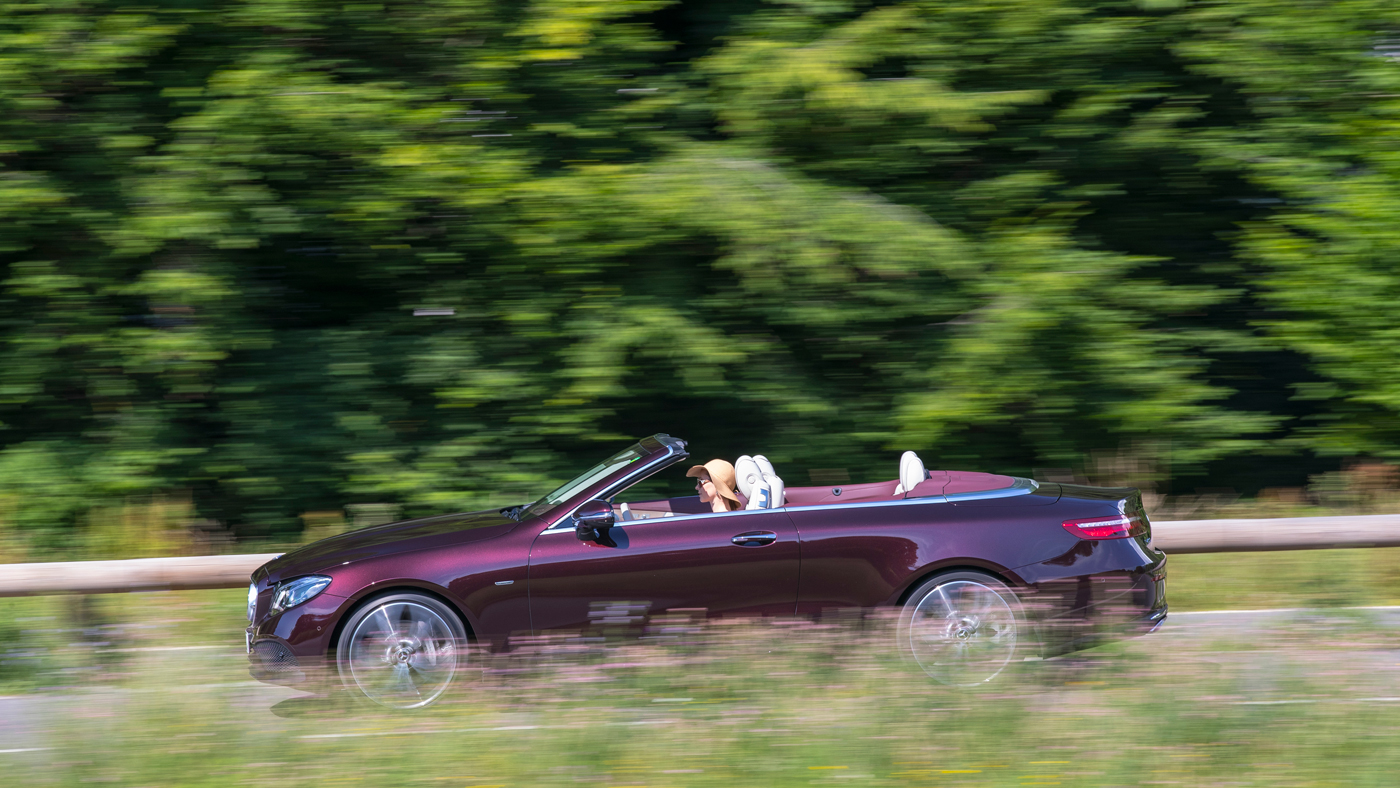 Writer Laura Burstein cruises through the French countryside while behind the wheel of the E400 Cabriolet.