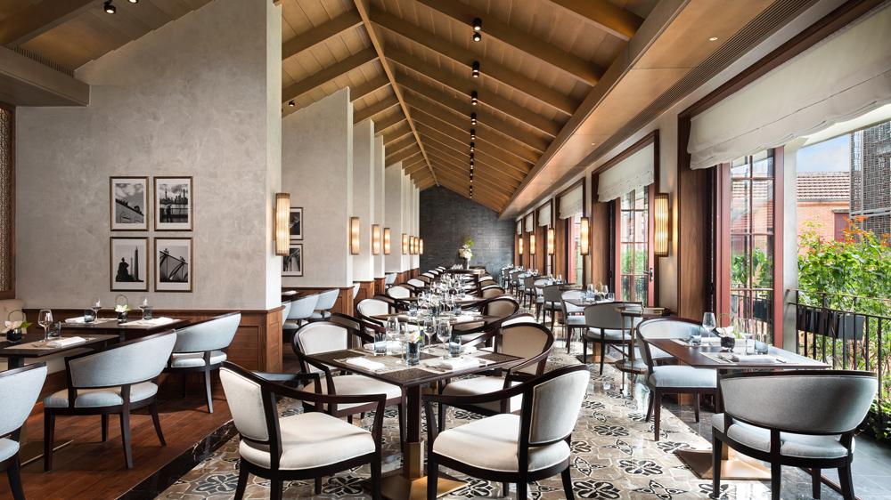 Main dining area at Capella Shanghai hotel china