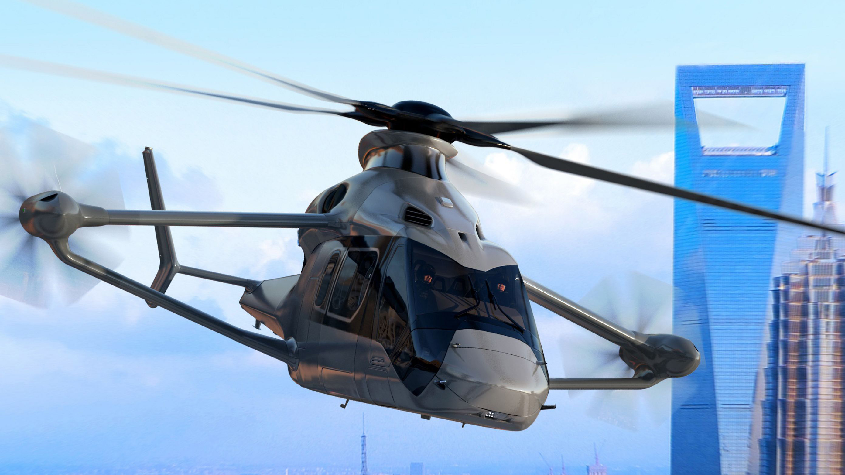 Airbus Reveals High-Speed Helicopter Project Racer Clean Sky 2