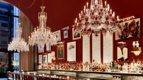 Baccarat Hotel NYC bar.
