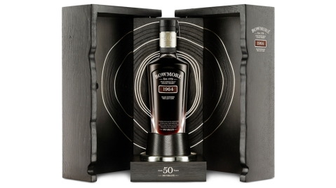 Black Bowmore 50-Year-Old The Last Cask cabinet.