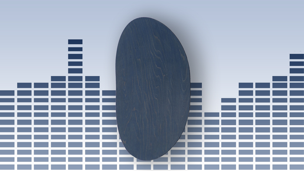 Room One Surface wall-mounted Bluetooth speaker in blue