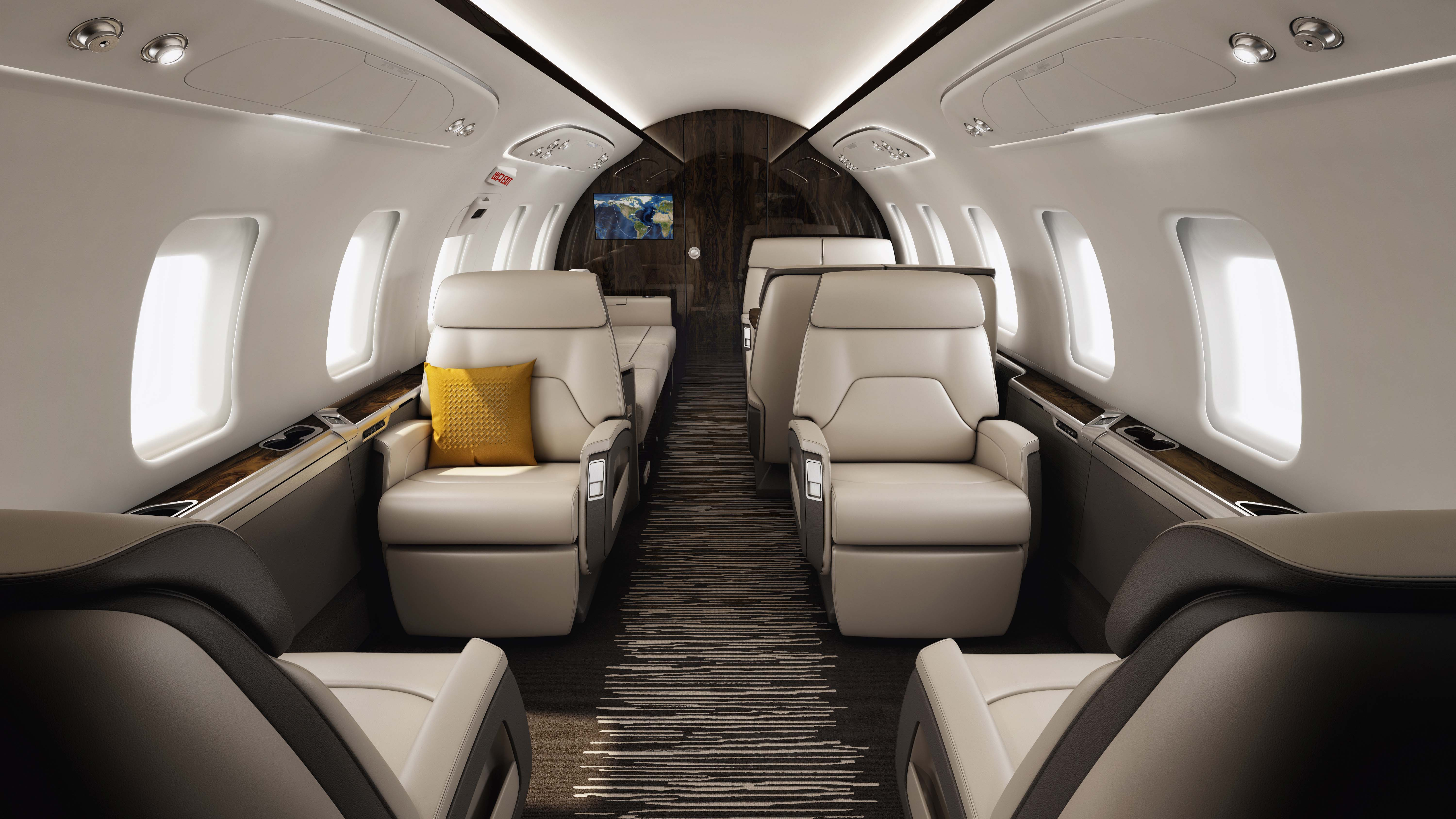 Bombardier Challenger 650 large-cabin private business jet