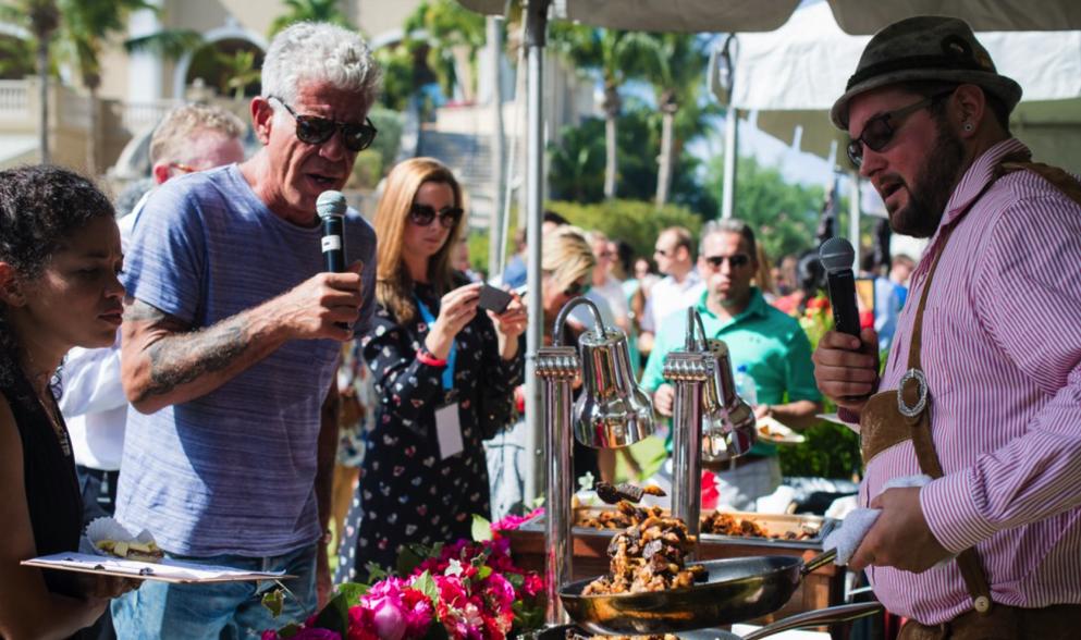 Anthony Bourdain hosts an event on Grand Cayman Island