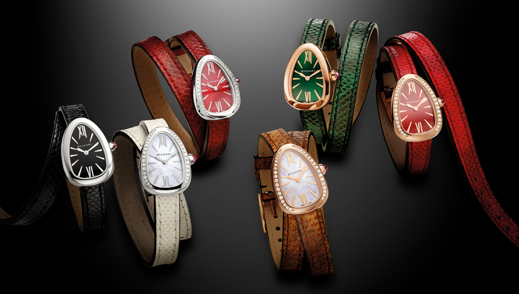 Colorful watches with gold and silver cases
