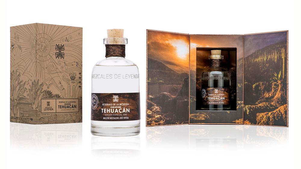 CaReservas de la Biosfera: Tehuacan-Cuicatlan bottle and case.