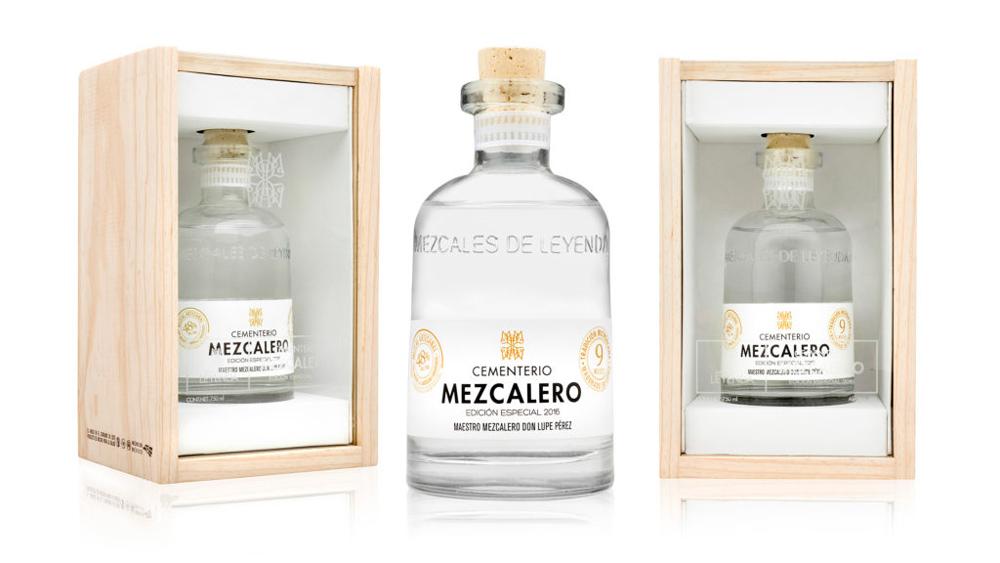 Cementerio Mescalero bottle and case.