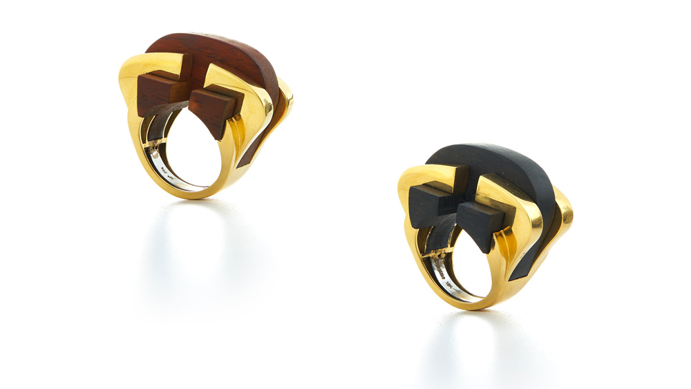 David Webb Woodwork Collection Bridge rings