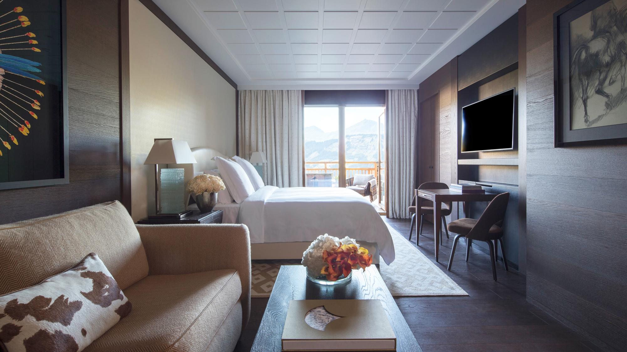 Four Seasons Hotel Megève bedroom