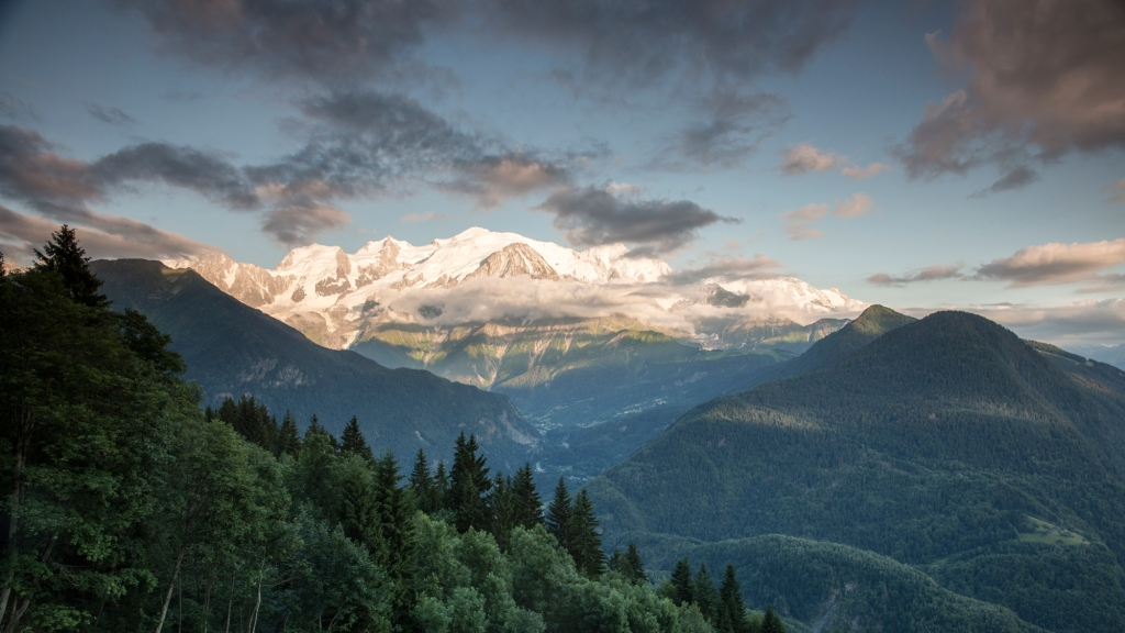 Four Seasons Hotel Megève view French Alps.
