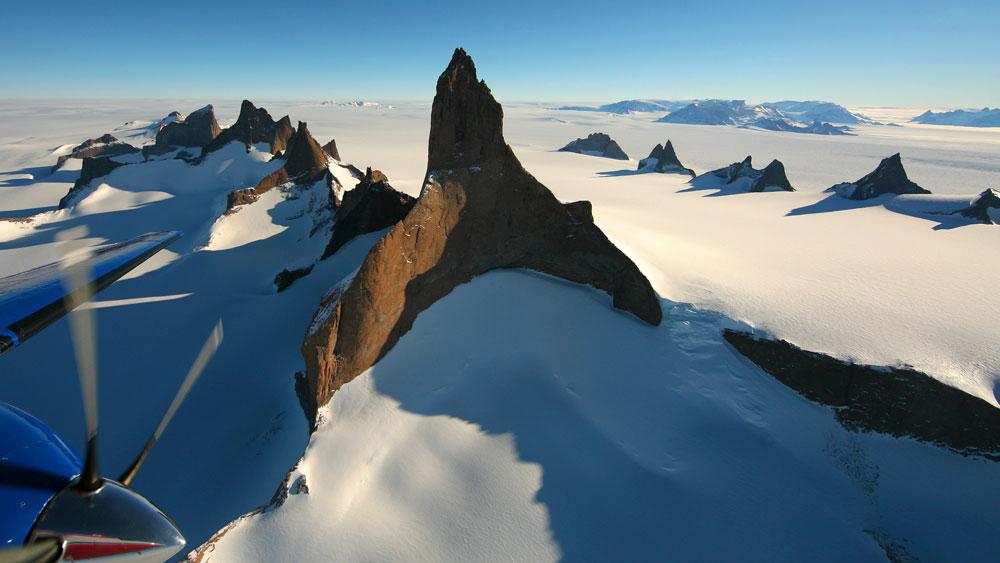 south pole mountain views