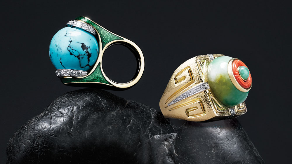 David Webb designer rings