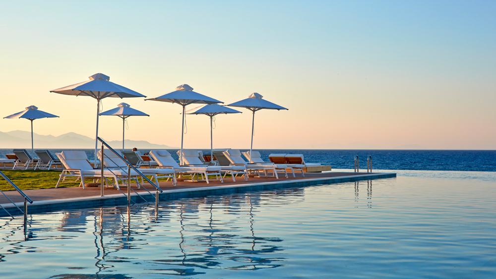 Lestante Blu Exclusive Beach Resort swimming pool on the coast