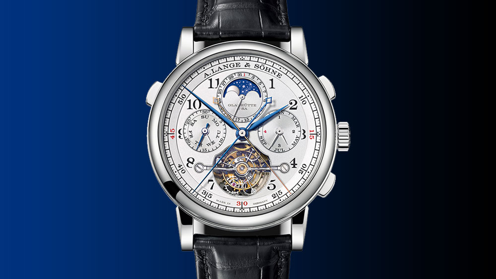 A. Lange & Söhne Tourbograph Perpetual face of watch