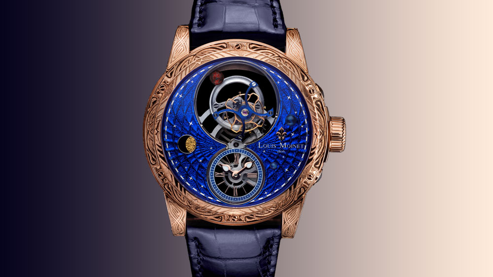 Louis Moinet Space Mystery face of watch
