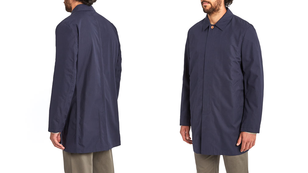 Blue coat on a male model