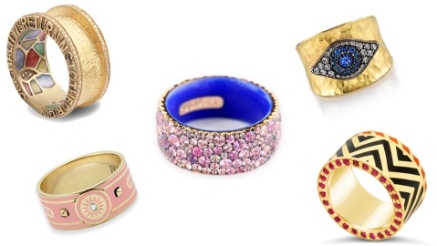 Bold Band Rings: Jewelry from Alice Cicolini, Foundrae, Coomi, More