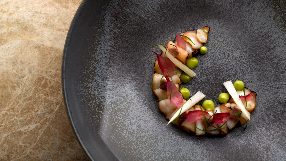 Octopus from Odette restaurant in Singapore