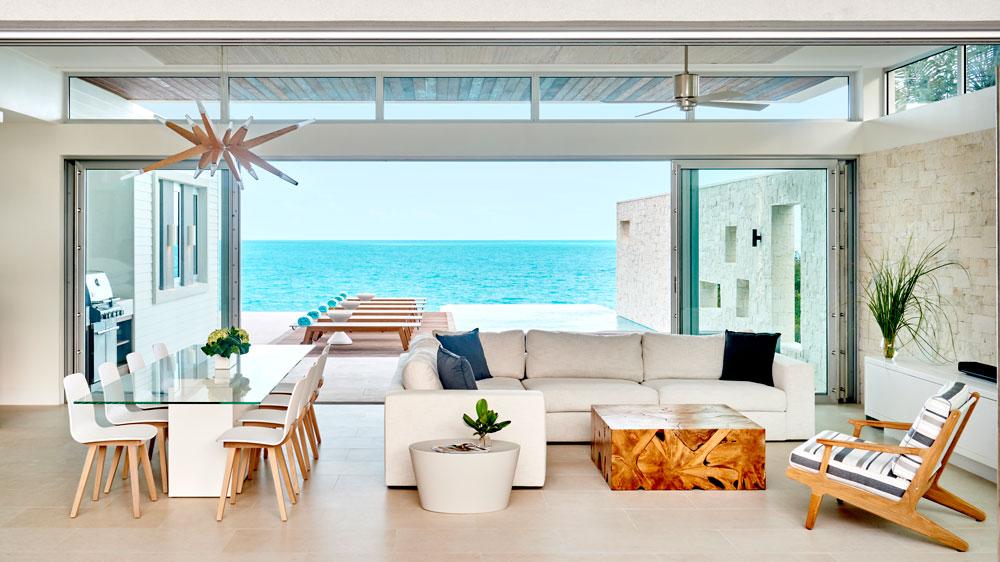 Gansevoort Villas interior layout with ocean views.