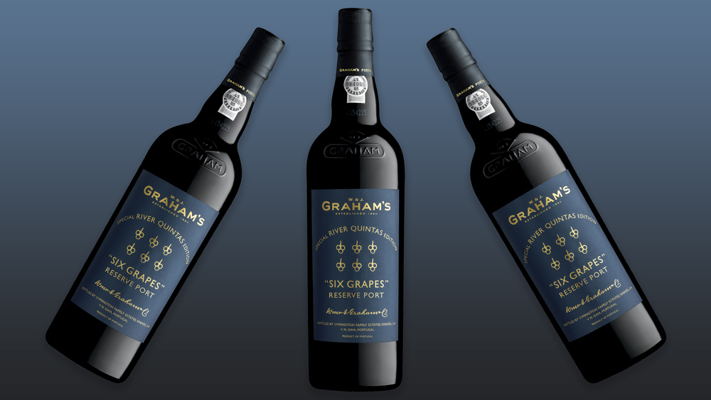 bottles of Graham's Six Grapes Port River Quintas Edition