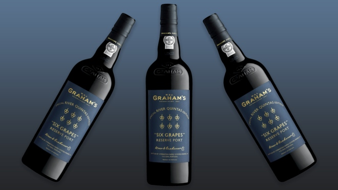 bottles of Graham's Six Grapes Port River Quintas Edition