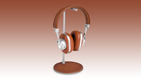 Zegna Toyz headphones from Master & Dynamic on stand