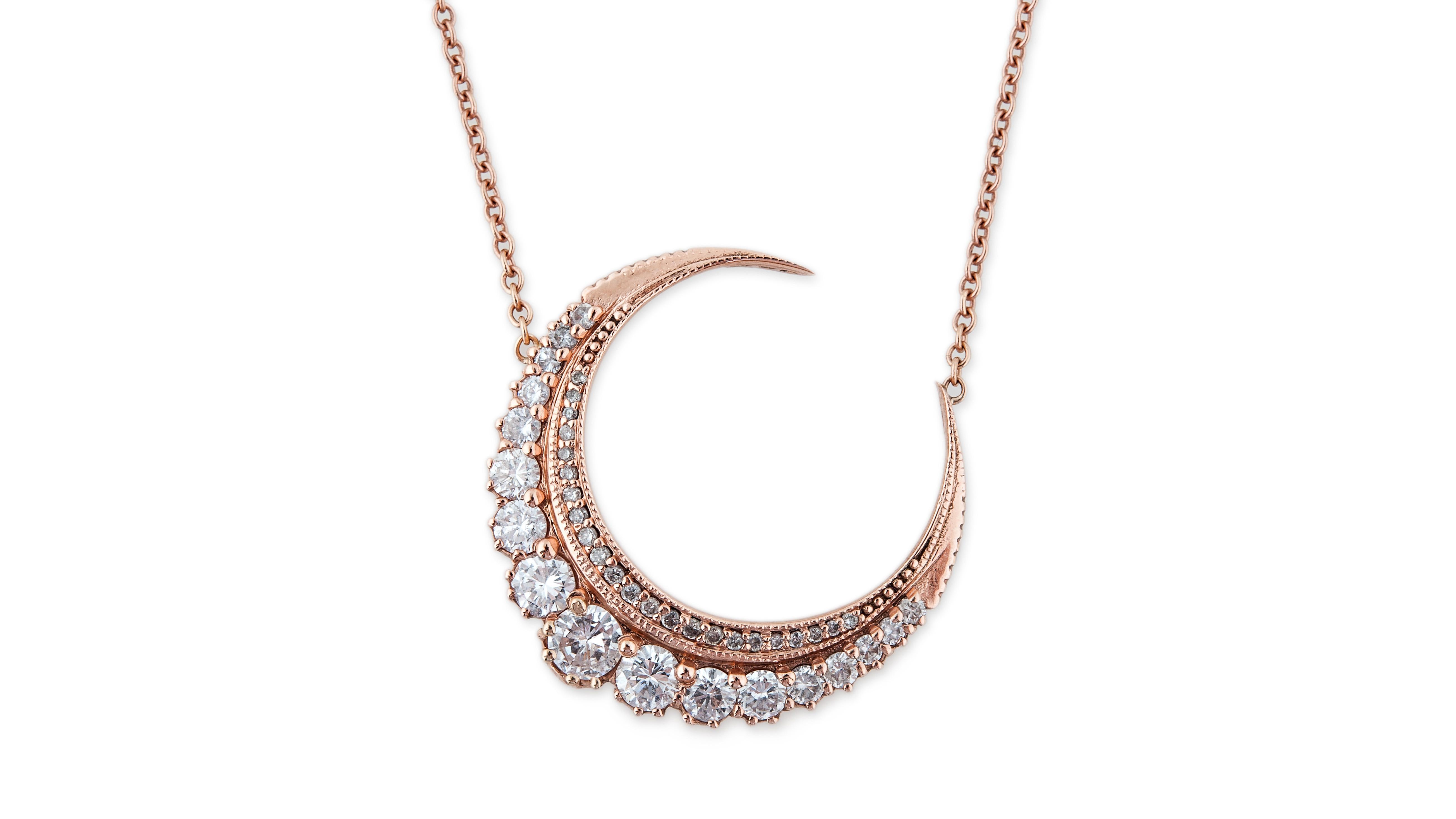 Jacquie Aiche diamond crescent necklace