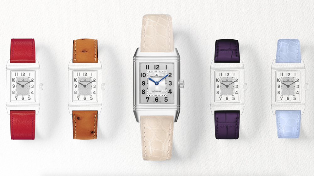 Women's watches with red, organge, white, black, and light blue straps