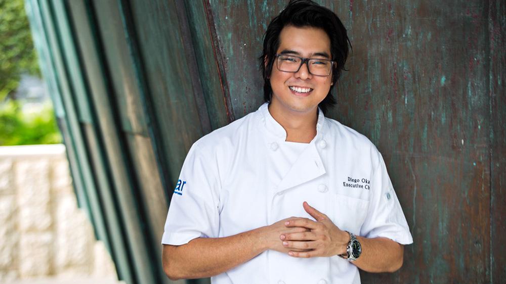 chef diego oka standing inside La Mar
