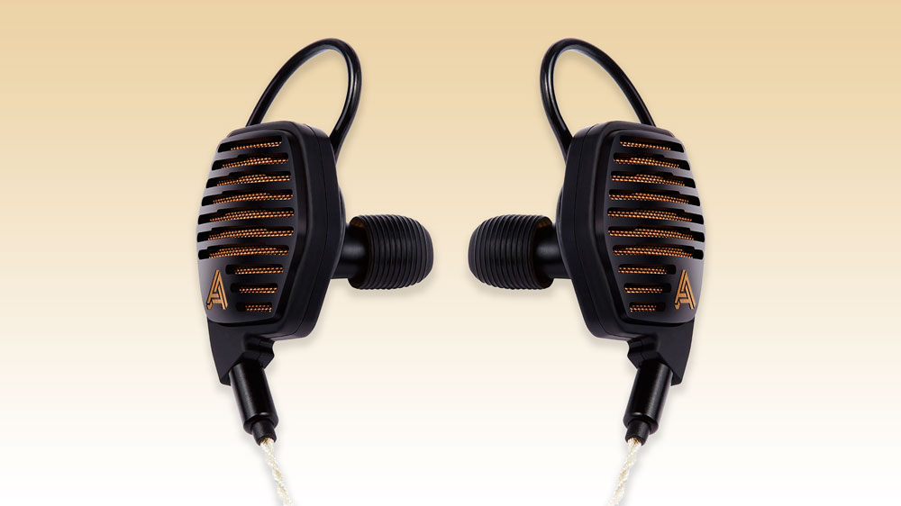 A pair of Audeze LCDi4 planar magnetic earbuds