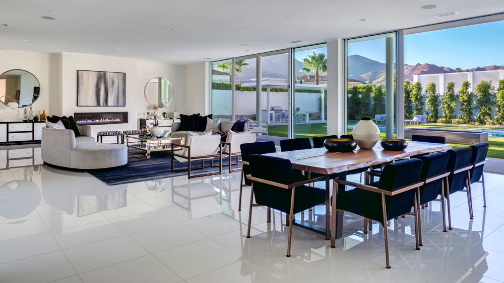 table and chairs in Linea Residences in Palm Springs